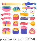 Vector set of  Sushi and Sashimi . 36530588
