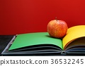 School books many on desk. and Equipment   36532245