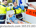 Paramedics fighting people trying to make photos 36535183