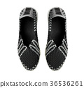 black shoe isolated 36536261