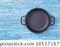 Skewer on a wooden background 36537167