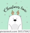 bear, christmas, vector 36537842
