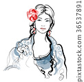 Traditional Spanish Flamenco woman 36537891