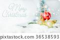Merry Christmas  concept, Closeup Christmasbal 36538593