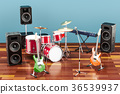 Set of different musical instruments 36539937