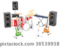 Set of different musical instruments 36539938