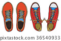 blue red sports sneakers 36540933