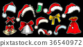 hat, christmas, vector 36540972
