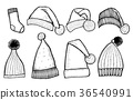 knitted hats isolated 36540991
