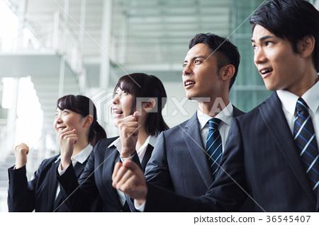 Business Guts pose team 36545407