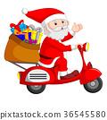 Santa Claus ride motorcicle 36545580