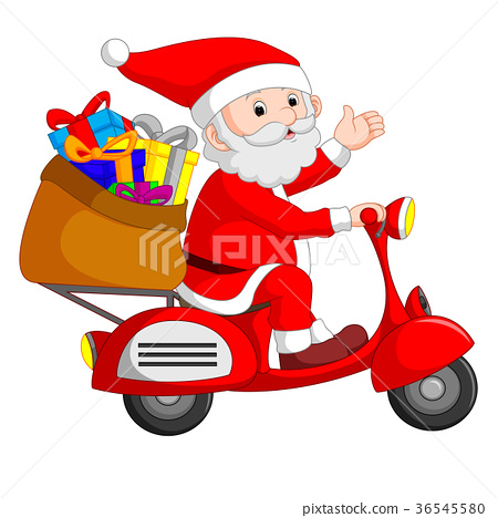 Santa Claus ride motorcicle 36545580