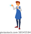 waiter holding a cups of tea or coffee with steam 36545594