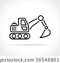 excavator icon on white background 36546801