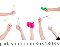 Hand hold show Recyclable plastic bottle bag  36548035
