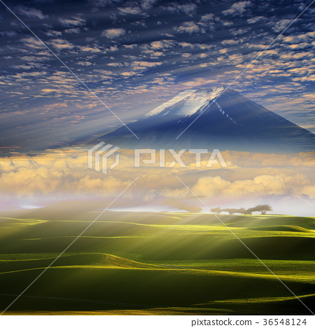 Summer mountain landscape. Mountain path 36548124