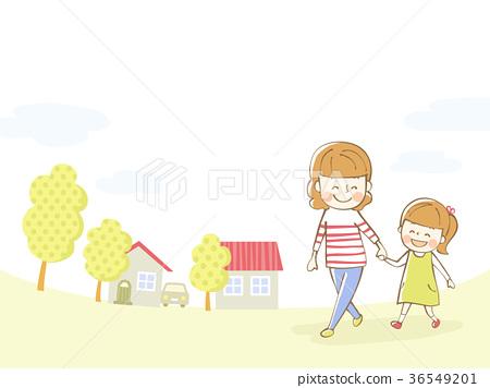 父母和孩子例證背景 36549201
