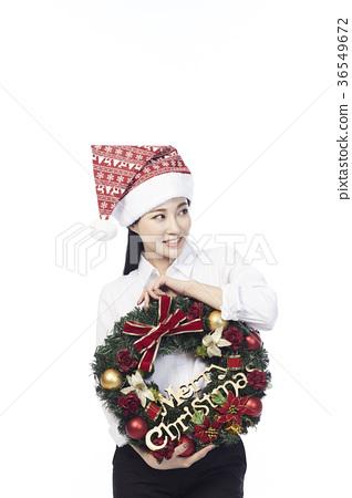 크리스마스 소녀 36549672