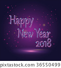 Happy New Year neon sign 2018 36550499
