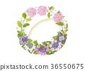 꽃 고리 · 6 월 · 수국 36550675