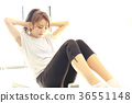 abdominal crunch, abdominal muscle, muscle training 36551148