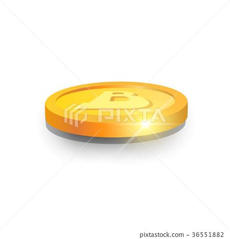 3d Bitcoin Icon Modern Web Money Digital Currency 36551882