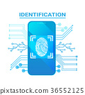 finger, identification, scan 36552125