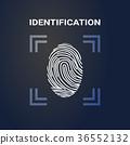 fingerprint, identification, logo 36552132