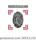 fingerprint, icon, identification 36552143