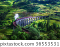 Glenfinnan Railway Viaduct in Scotland with a 36553531