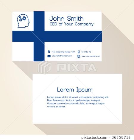 finland flag color business card design eps10 36559712