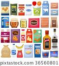 Set of different products. Vector illustration 36560801