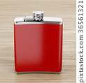 hip flask red 36561321