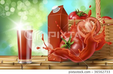 Tomato juice ad, vector 36562733