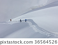 Climbers on the Mont Blanc massif, France 36564526