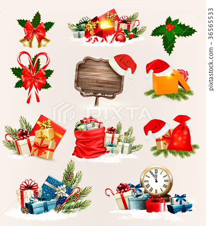 Big set of Christmas icons and objects 36565533