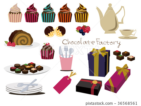Illustration material of chocolate. Valentine's day set. 36568561