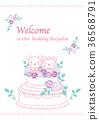 婚禮 矢量 熊 36568791