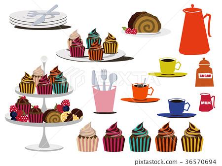 巧克力蛋糕 紙杯蛋糕 甜點 36570694
