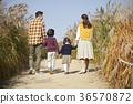아빠,엄마,아들,딸,가족,공원 36570872