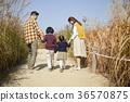 爸爸,妈妈,儿子,女儿,家庭,公园 36570875