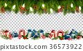 Christmas holiday frame with branches of tree  36573922