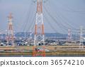 pylon, steel tower, Power Transmission Line 36574210
