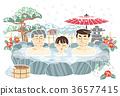 外部露天池 温泉 冬天 36577415