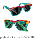 vector illustration of the Sunglasses color 36577686