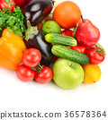 fruit and vegetable isolated on white background 36578364