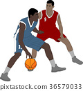 basketball players illustration 36579033