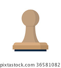 stamp, icon, vector 36581082