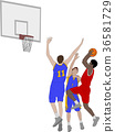 basketball players illustration 36581729