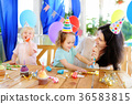 Little child and their mother celebrate birthday  36583815
